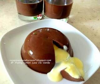 Resep Membuat Puding Coklat Lava Vla Vanilla