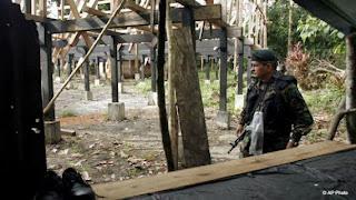 Panamaian Police patrol the Darien Region.