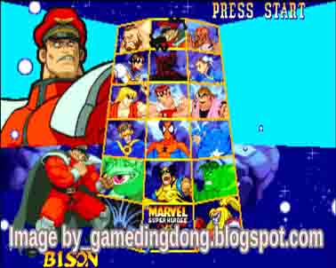 Marvel super Heroes VS Street Fighter 2