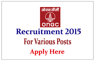 Oil and Natural Gas Corporation Limited Recruitment 2015 for post of Technical Assistant / Junior Assistant