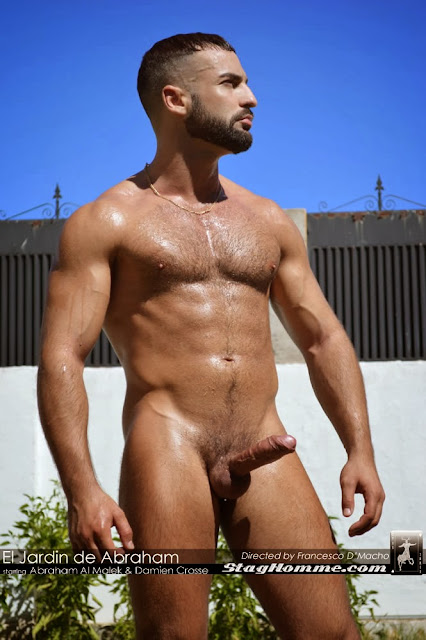 Sexy hairy hunk Abraham Al Malek gets nude 02