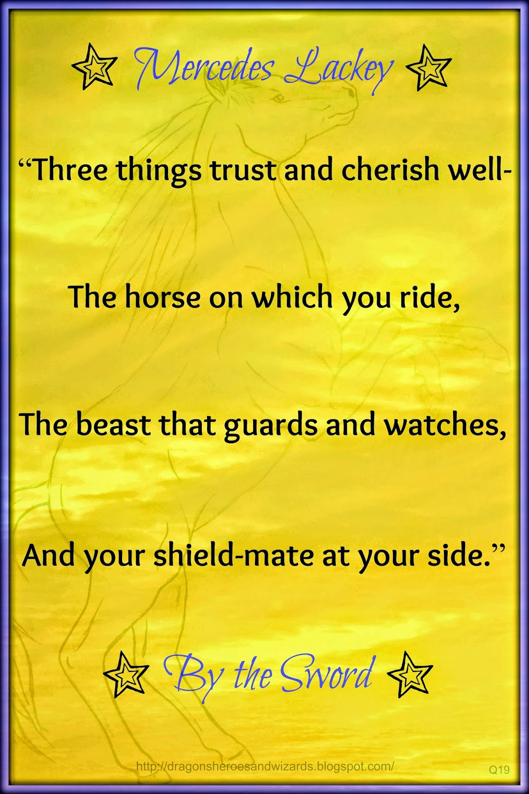 "Quote from ""By the Sword"" by Mercedes Lackey"