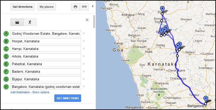 Bangalore-Hampi-Aihole-Patadkal-Badami-Bijapur-Bangalore
