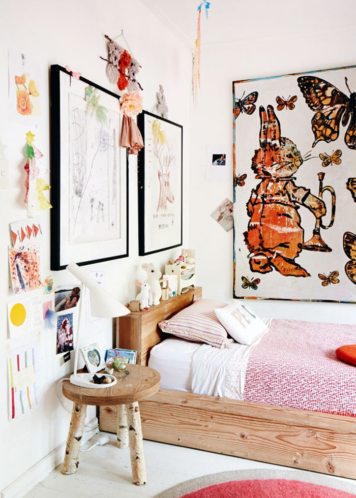 kids room with bohemian vibe