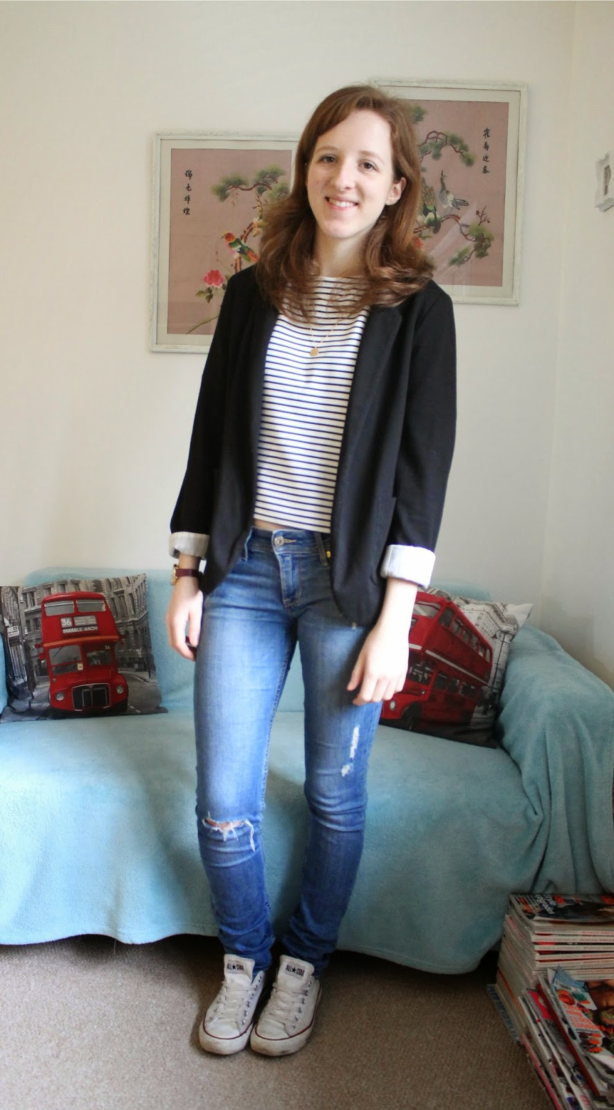 OOTD Cropped Top and Blazer