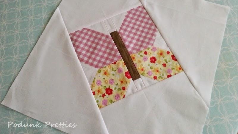 Podunk Pretties: Podunk Posy quilt, Butterfly corner block tutorial : butterfly quilt blocks - Adamdwight.com
