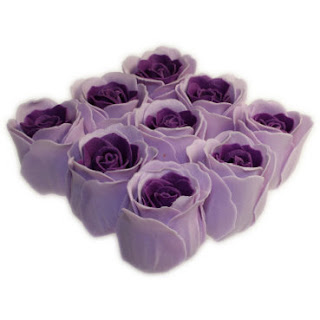 Bath Roses - 9 Roses in Gift Box Lavender