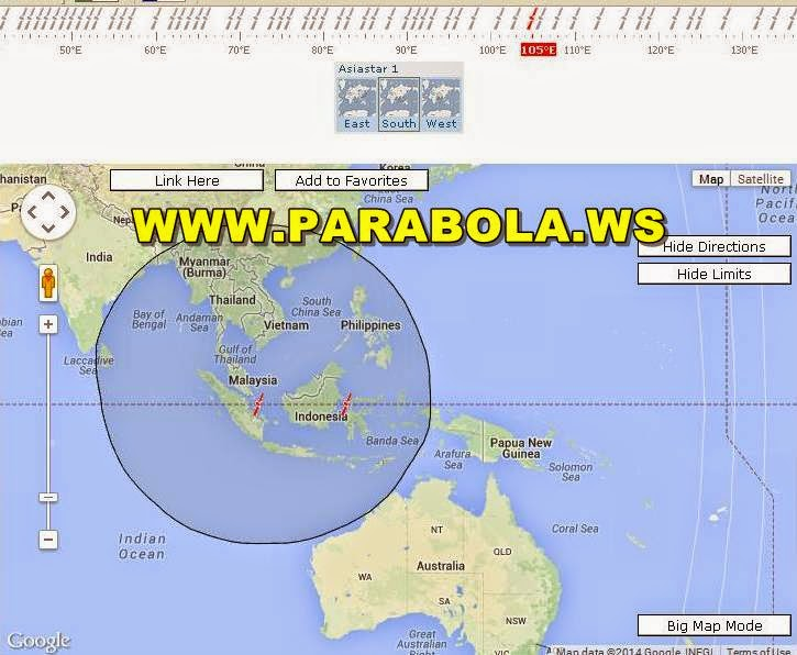 satelit parabola beam Indonesia asiastar 1 L band