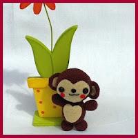 Pequeño mono amigurumi
