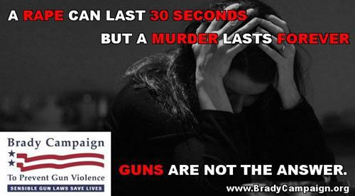 Brady Campaign to Prevent Gun Violence Says Women Should Endure Rape.