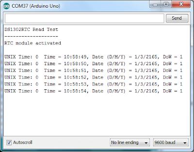 Rangkaian & Source Code RTC DS1302 dan Arduino Uno