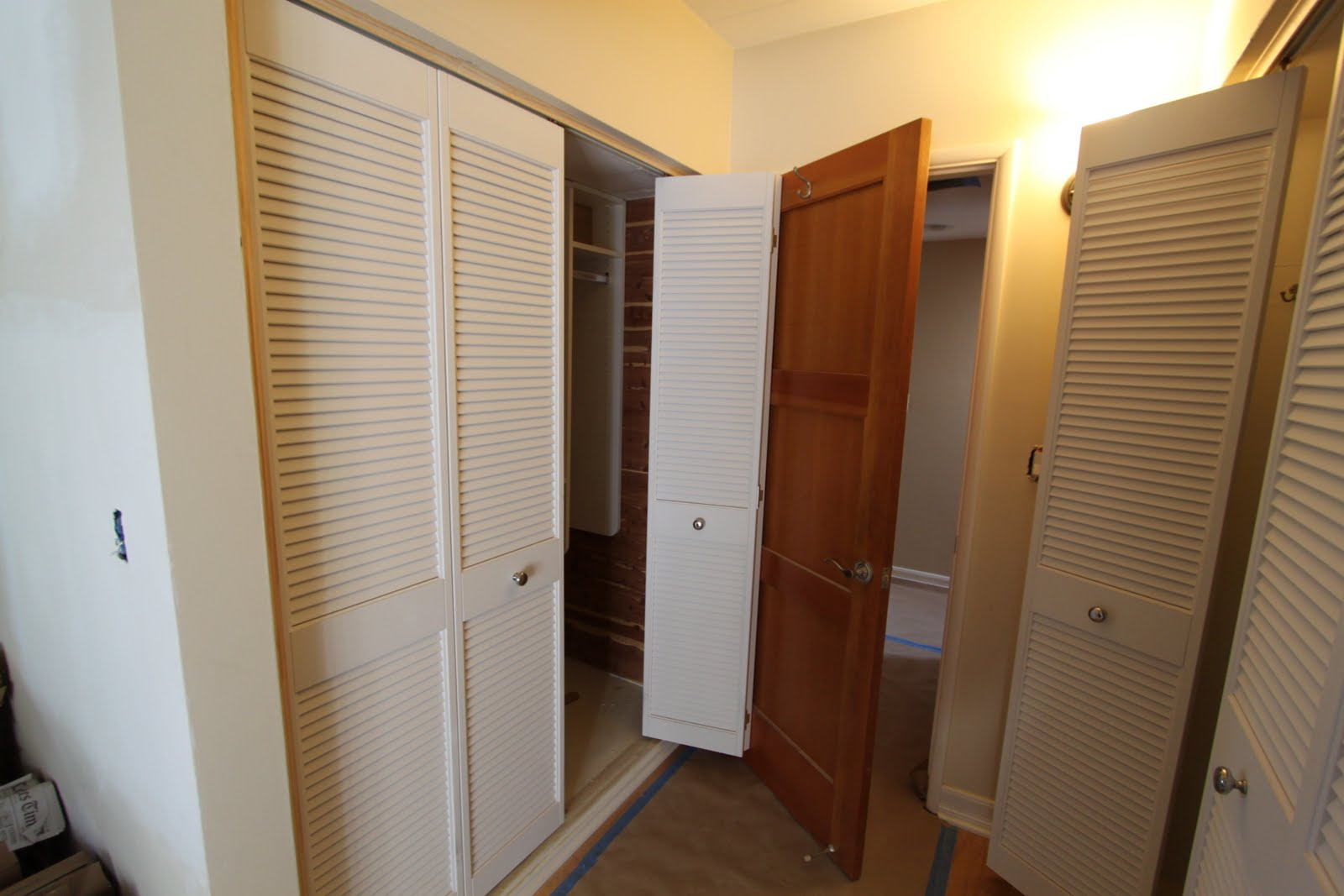 Mid century modern closet doors - All About Louver Closet Doors Mid Century Modern Remodel