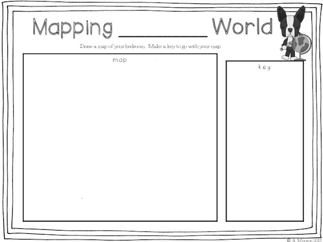 School Is a Happy Place Mapping Pennys World A Must Read Mentor – Map Key Worksheet