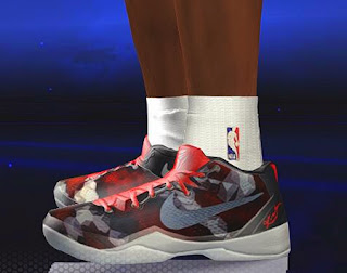 NBA 2K14 Kobe 8 System Red Tail Boa Shoes