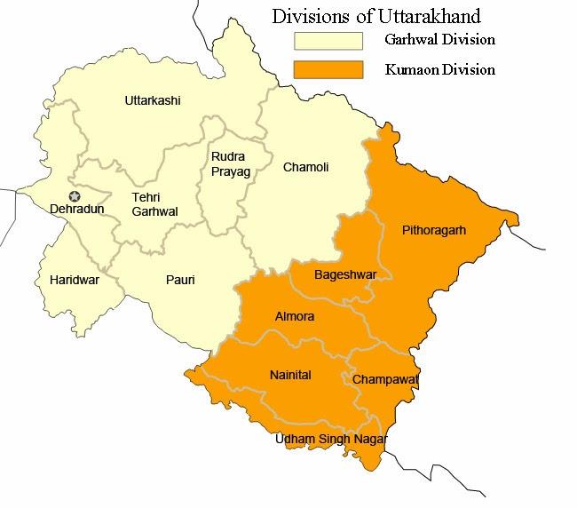 Divisions of Uttarakhand_DevBhumiUttaranchal