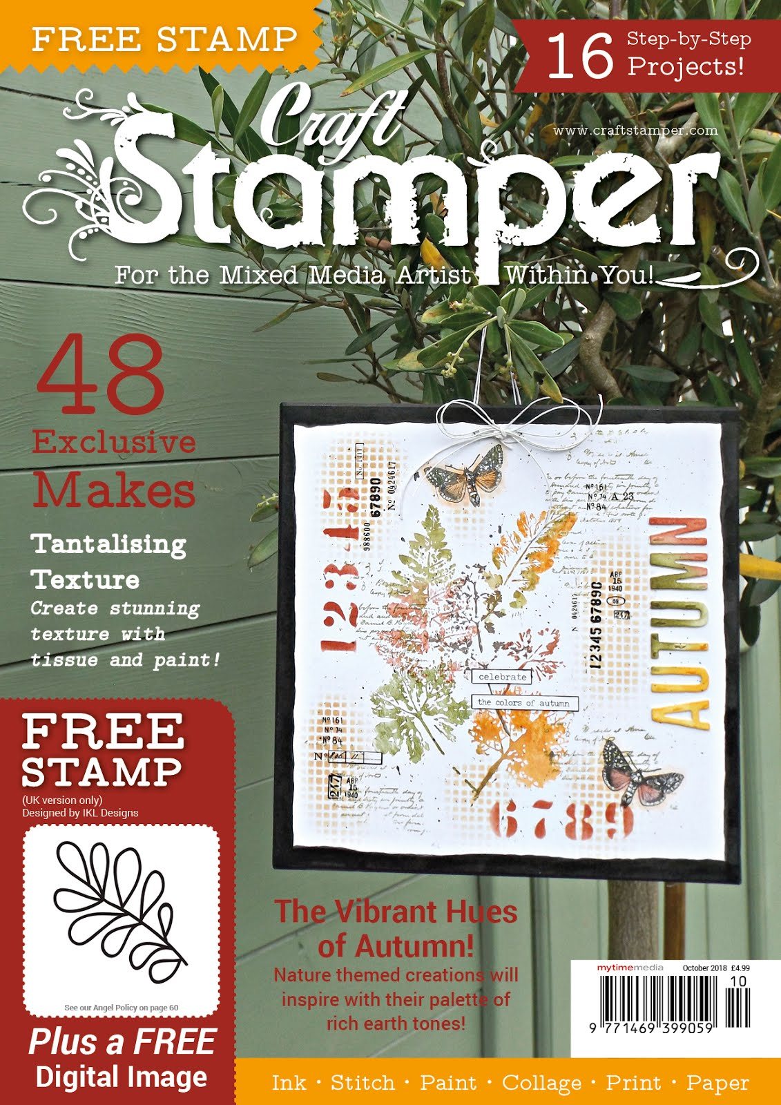 2 Mixed Media Cards Published in Craft Stamper Magazine, Oct 2018 Issue