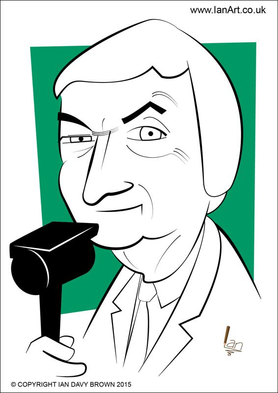 Richie Benaud Caricature