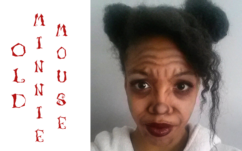 old minnie mouse halloween makeup idee instagram