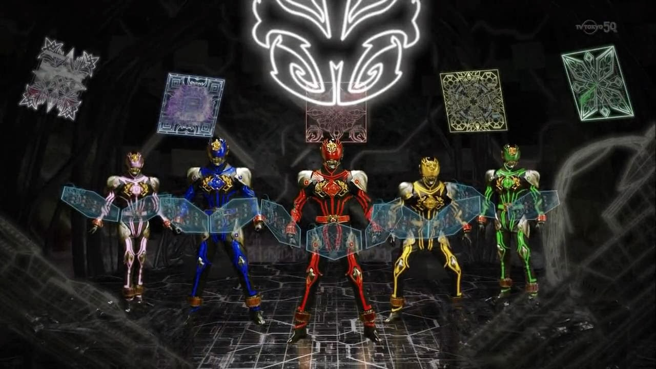 The team adorn more traditional toku suits for the finale