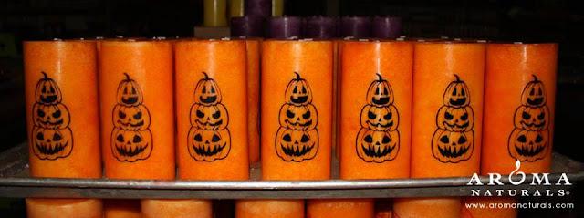 Pumpkin Spice Fall Pillar Candles