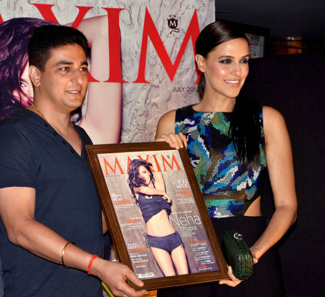 neha dhupia at maxim artic vodka party