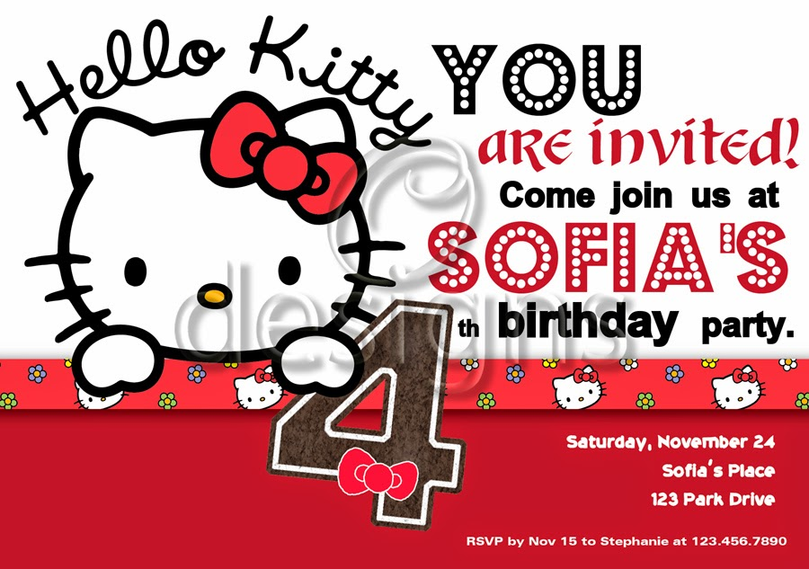 personalized hello kitty invitations Intoanysearchco