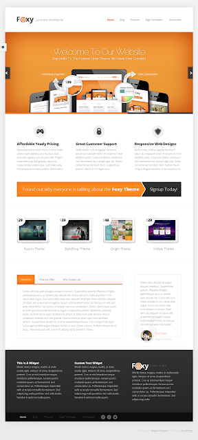 Foxy WordPress Theme