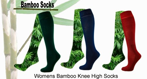 Bamboo socks womens knee high socks from Bamboo Creations Victoria