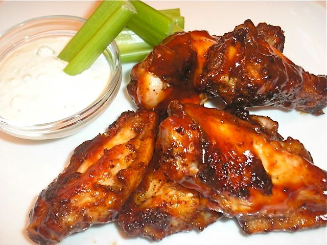 The Briny Lemon: Grilled Chicken Wings with Feta Cheese Dressing