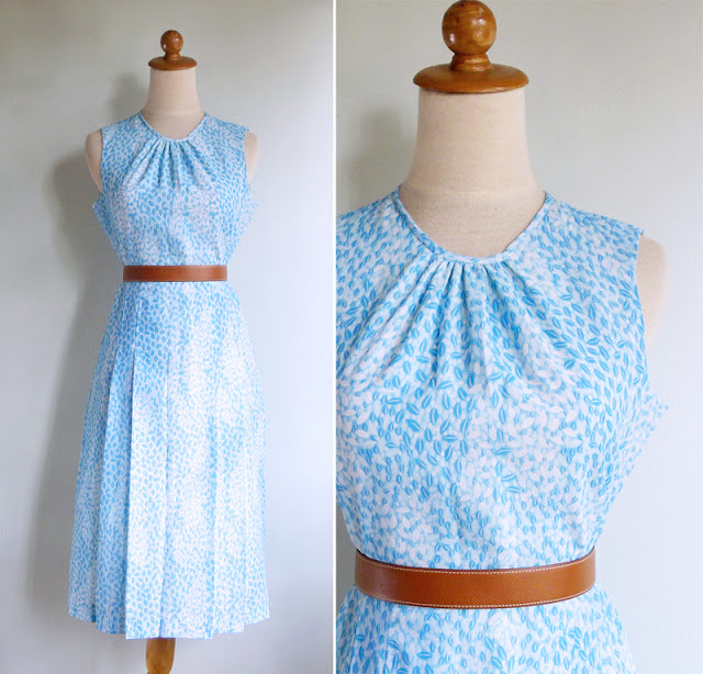 vintage 1970's barley grain print day dress