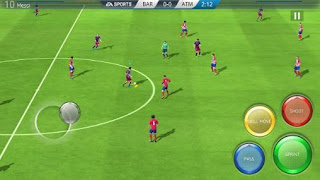 Screenshots of the FIFA 16: Ultimate team for Android tablet, phone.