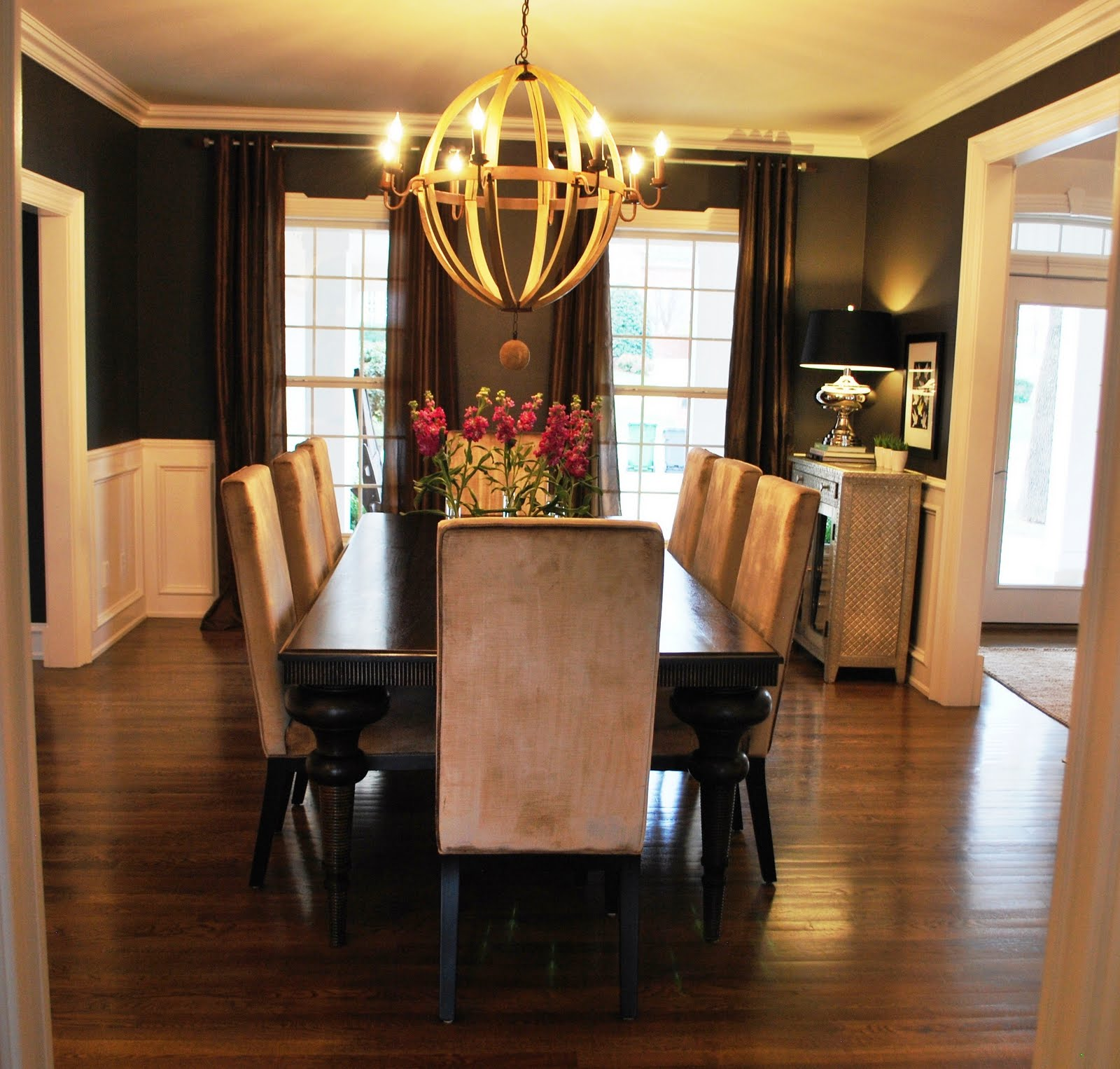 Black fox favorite paint colors blog for Black dining room walls