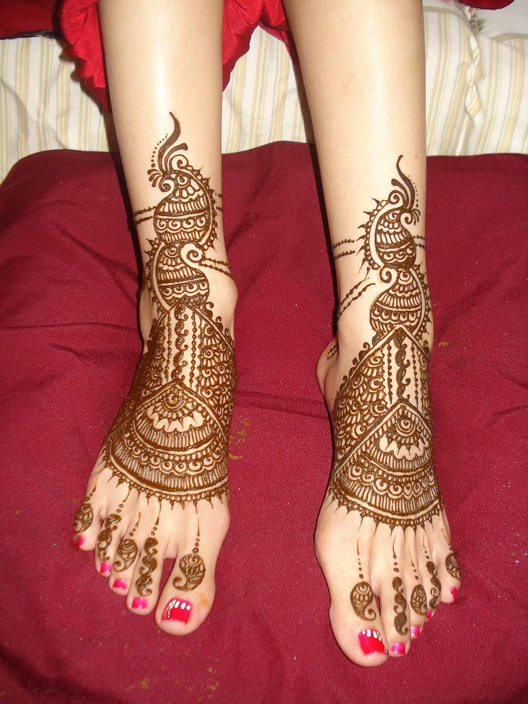 Mehndi Leg Designs New Style : Latest fashion mehndi designs for legs