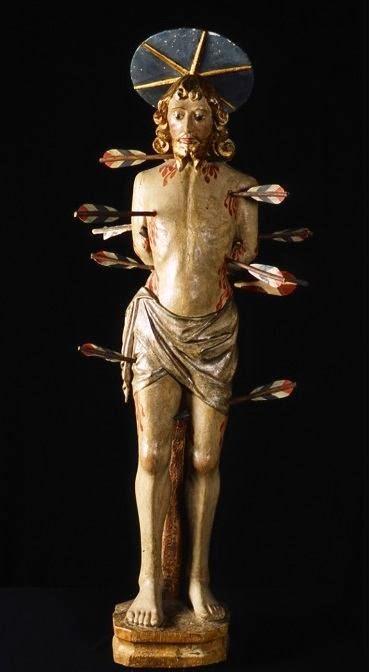 San Sebastiano, statua lignea policroma