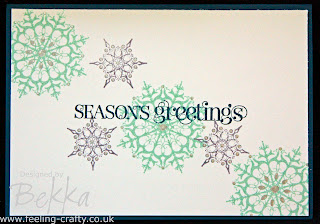 Quick Snowflake Soiree Christmas Card Idea by Stampin' Up! Demonstrator Bekka Prideaux
