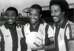 Laurie Cunninghan, Cyrille Regis, and Brendan Batson