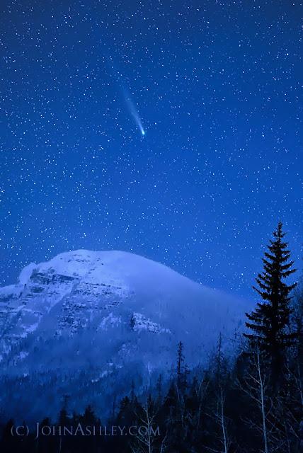 Comet Lovejoy over Glacier Park December 7, 2013 (c) John Ashley