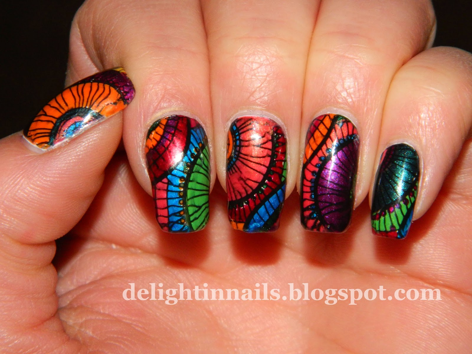 Delight In Nails: Nail-Art-A-Go-Go Day 2 = Jewel Tones!