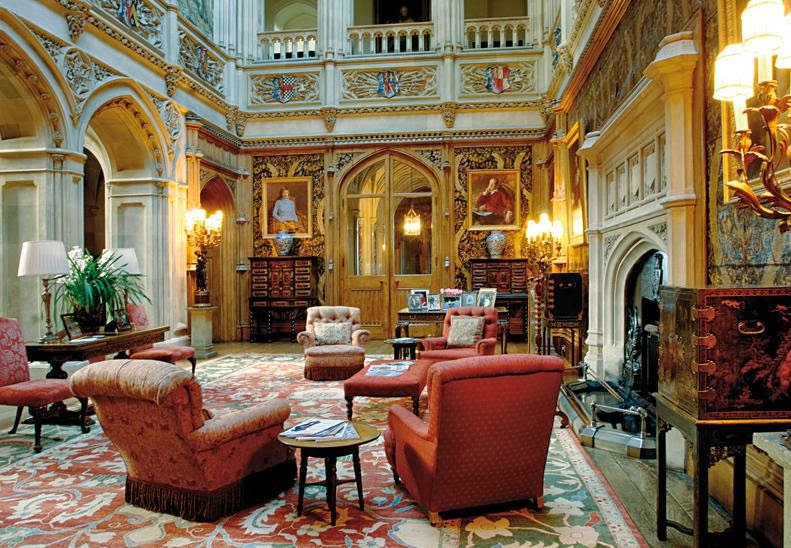 Houses of state highclere castle downton abbey photos and floor plans - Chateau de downton abbey ...