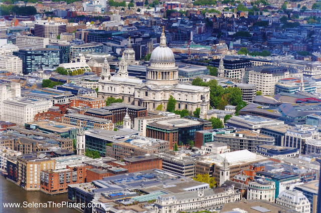 St. Pauls Cathedreal from The View from The Shard London