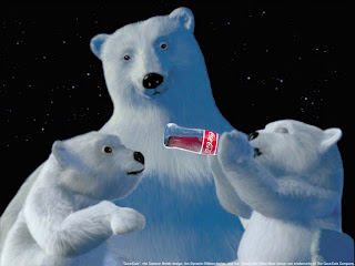 Free Download Coca Cola Christmas Bear Wallpaper
