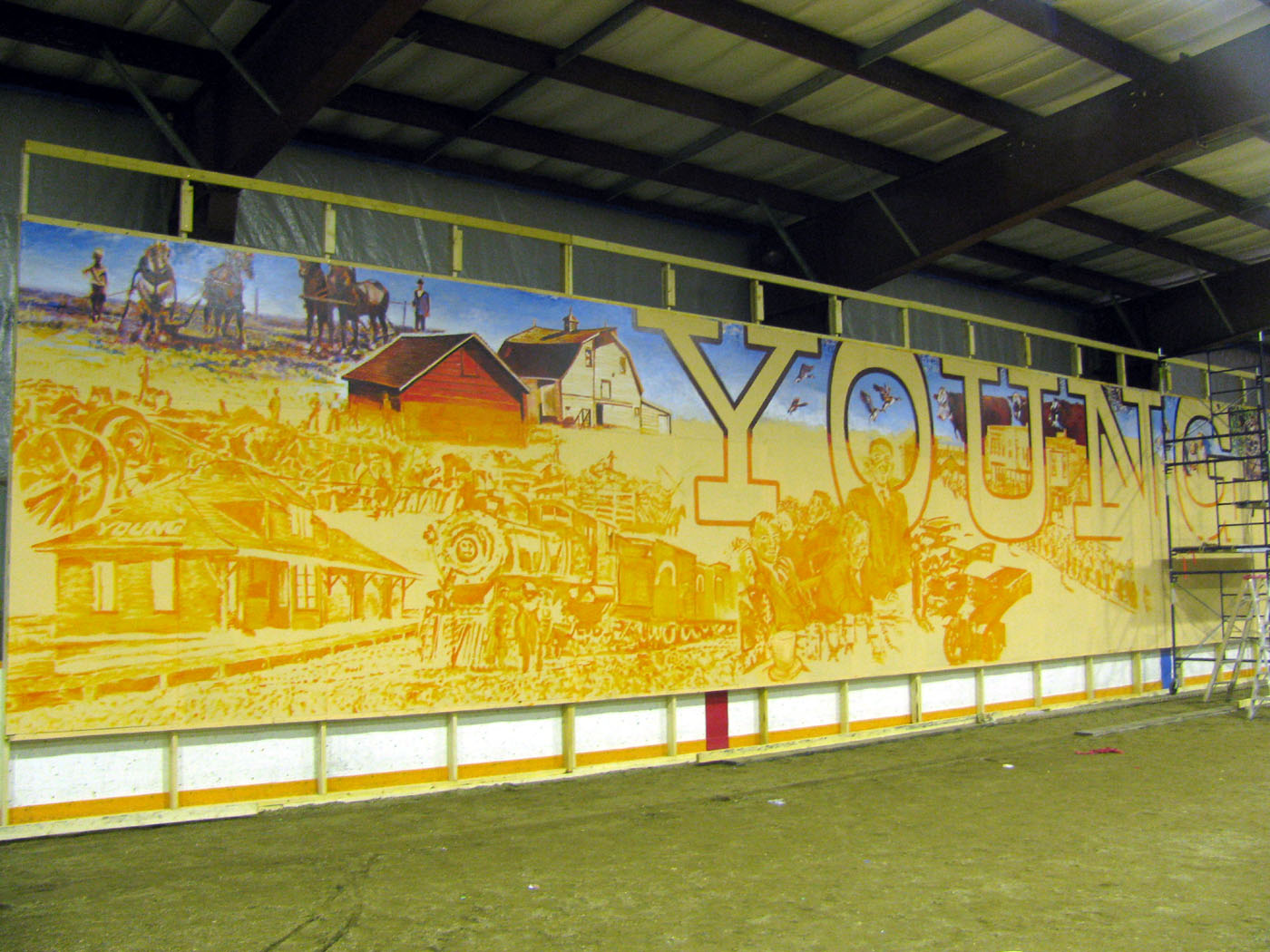 The Art of Michael R. Gaudet: Orange is the Color, Mural-Painting is ...