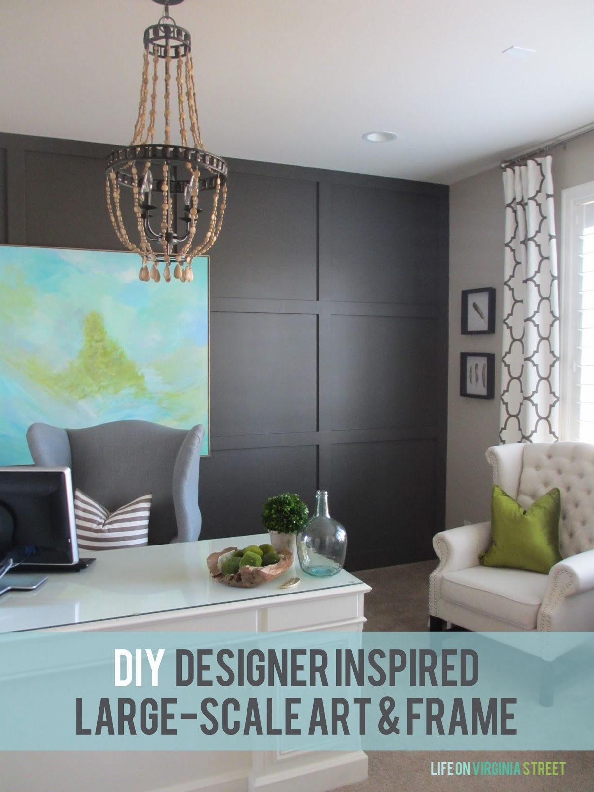 DIY Designer Inspired Large-Scale Art & Frame