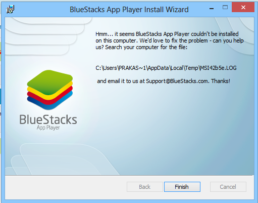 Bluestacks graphics card erro