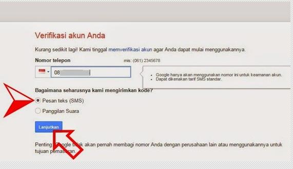 Cara verifikasi akun google
