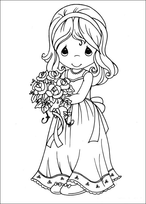 Coloring Pages Precious Moments Alphabet (Others) - free printable