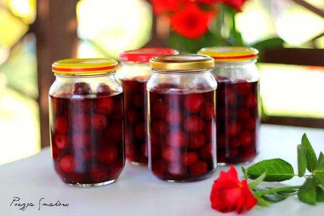 Wiśnie w syropie (do ciast i deserów) - kompot wiśniowy na zimę.