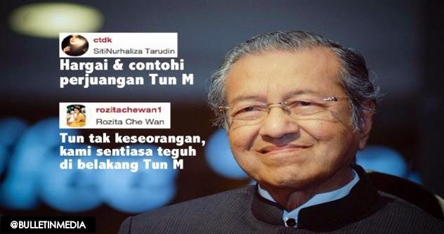 Siti Nurhaliza Che Ta Zahirkan Sokongan Terhadap Tun Mahathir