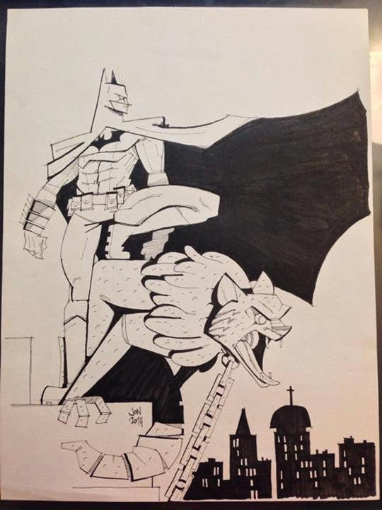jonathan jon lankry 2D artist animation comic book animated batman on gargoyle bruce wayne gotham city dc comics