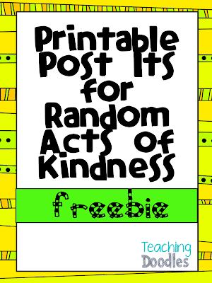 Printable Sticky Notes for Random Acts of Kindness